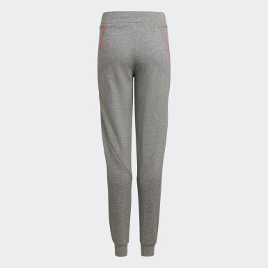 Youth 8-16 Years Training Grey Bold Tapered Leg Joggers