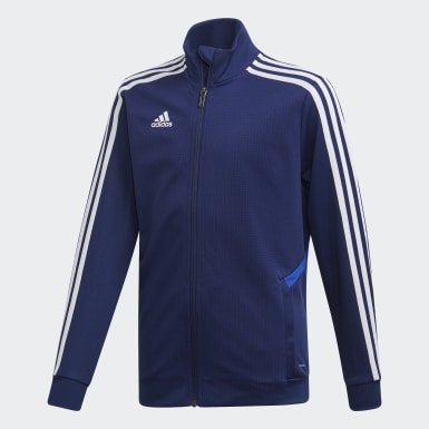 Youth Soccer Blue Tiro 19 Training Jacket