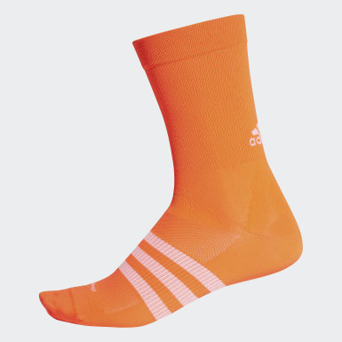 Men Cycling Orange sock.hop.13 Socks 1 Pair