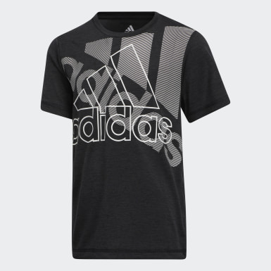 T-shirt Badge of Sport noir Adolescents Entraînement