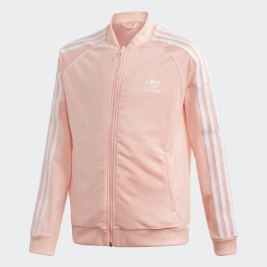 Meisjes Originals roze SST Trainingsjack