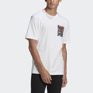 Men's Originals White adidas Adventure Munching Man Archive Graphic Tee