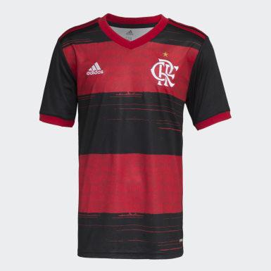 Camisa CR Flamengo 1 Preto Meninos Futebol