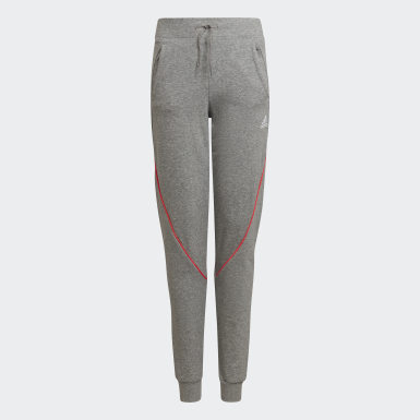 Girls Træning Grå Bold Tapered Leg bukser