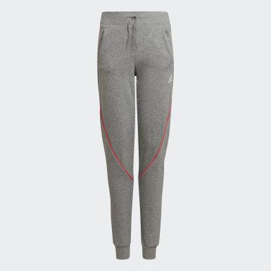 Pantaloni Bold Tapered Leg Grigio Bambini Training