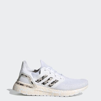 Women Running White Ultraboost 20 Glam Pack Shoes