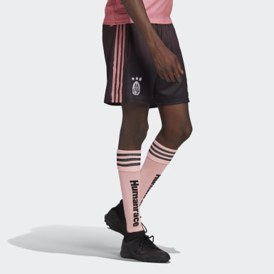 Men Football Black Juventus Human Race Shorts