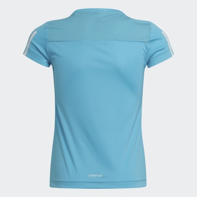 Mädchen Training Equipment T-Shirt Blau