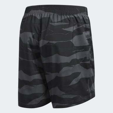 Men Running Grey Camouflage Run-It Shorts