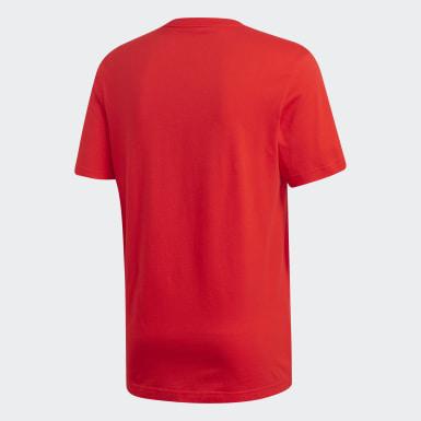 Polo Linear Brush Rojo Hombre Training