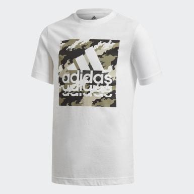 Boys Træning Hvid Graphic T-shirt