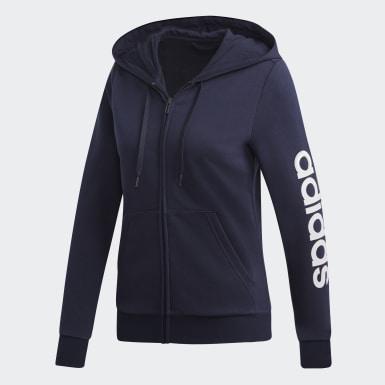 Casaco com Capuz Linear Essentials Azul Mulher Athletics