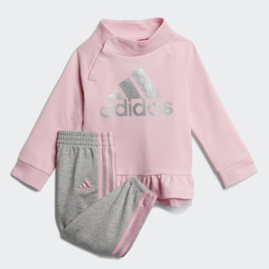 FT PULLOVER JOGGER SET Rose Bambins & Bebes Entraînement
