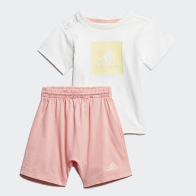 Conjunto Logo Summer Branco Kids Training