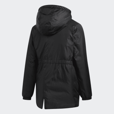 Girls Training Black Insulated Jacket