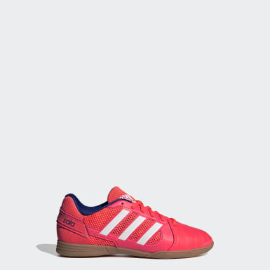 Barn Fotboll Rosa Top Sala Trainers