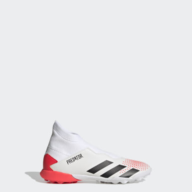 Boys Football White Predator 20.3 Turf Boots