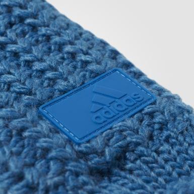 синий Варежки