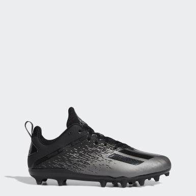 Men's Football Black Adizero Spark Cleats
