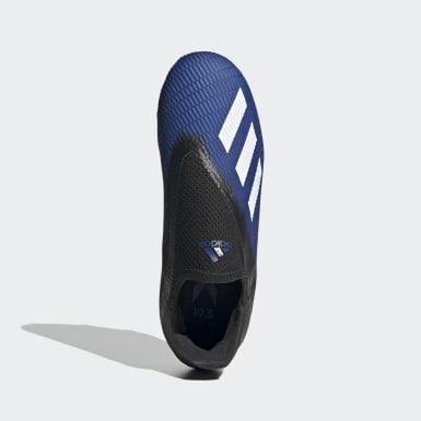 Botas de Futebol X 19.3 – Piso firme Azul Criança Futebol