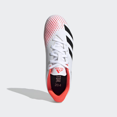 Jongens Voetbal wit Predator 20.4 Flexible Ground Voetbalschoenen