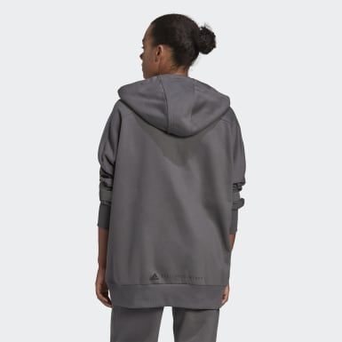 Felpa con cappuccio Full-Zip Grigio Donna adidas by Stella McCartney