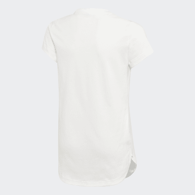 Girls Training White Glam On Long T-Shirt
