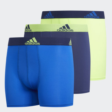 Children Training Blue Climalite Boxer Briefs 3 Pairs