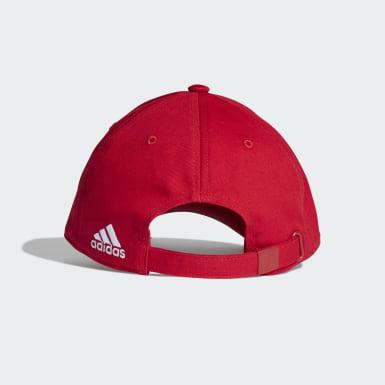 Männer Fußball Manchester United Baseball Kappe Rot