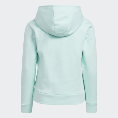 Youth Training Turquoise EVENT20 FLC CTN HOOD PLOVR