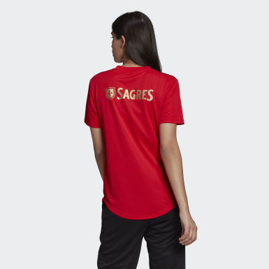 Dames Voetbal Rood Benfica Thuisshirt