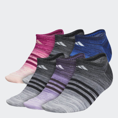Women's Training Multicolor Superlite Multi Space Dye No-Show Socks 6 Pairs