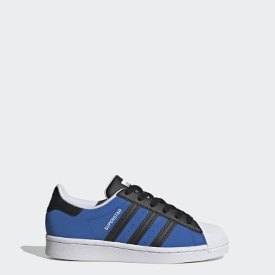 Youth Originals Blue Superstar Shoes