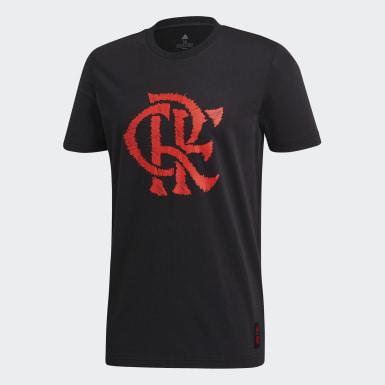 Camiseta Estampada DNA CR Flamengo Preto Homem Futebol