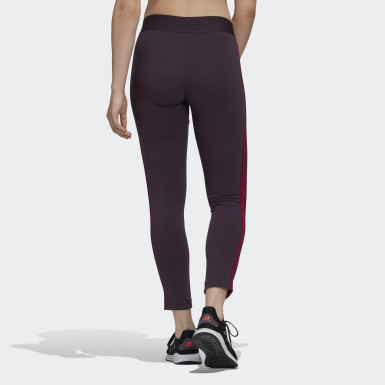 Women's Training Purple Essentials 3-Stripes Tights