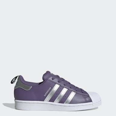 Women's Originals Purple Superstar��Shoes