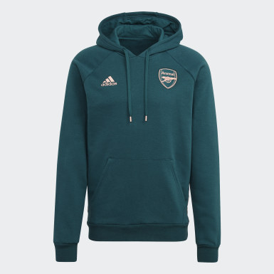 Men Football Green Arsenal Travel Hoodie