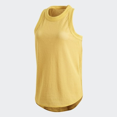 Playera Yoga Cotton Touch Tank Amarillo Mujer adidas by Stella McCartney