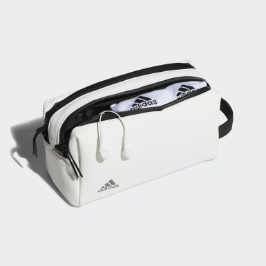 Men Golf White Tour Two-Zip Pouch