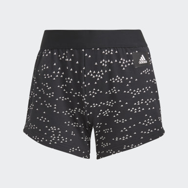 Women Athletics Black adidas Sportswear Badge of Sport Allover-Print Shorts