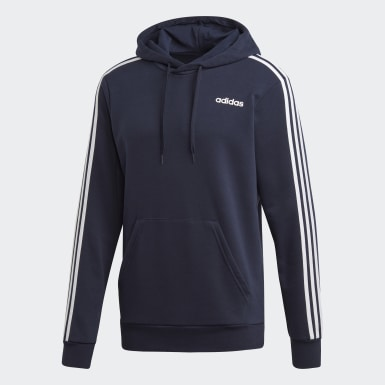 Men's Essentials Blue Essentials 3-Stripes Hoodie