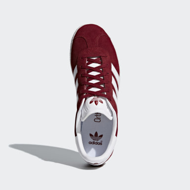 Youth 8-16 Years Originals Burgundy Gazelle Shoes