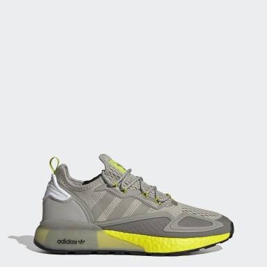 Men Originals Grey ZX 2K Boost Shoes