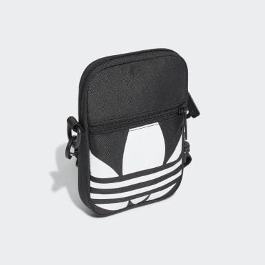 Originals Black Adicolor Large Trefoil Festival Bag