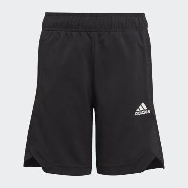 Jungen Training AEROREADY Woven 3-Streifen Shorts Schwarz
