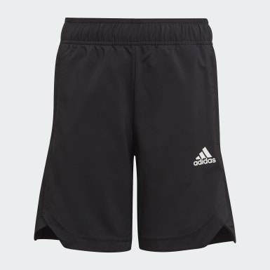 Boys Träning Svart AEROREADY Woven 3-Stripes Shorts