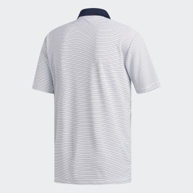 Playera Polo Two-Color Club Stripe Blanco Hombre Golf