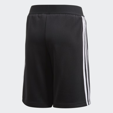 Boys Training Black Predator 3-Stripes Shorts