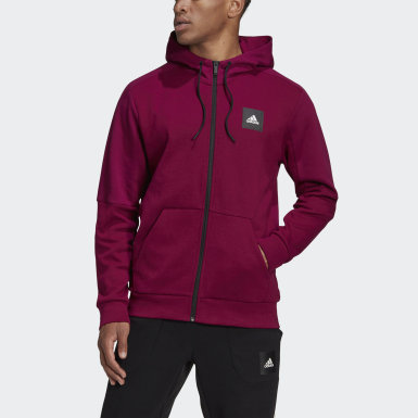Chaqueta con capucha Must Haves Full-Zip Stadium Burgundy Hombre Athletics