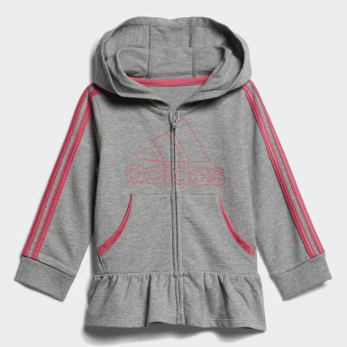Infant & Toddler Training Grey French Terry Hoodie Set